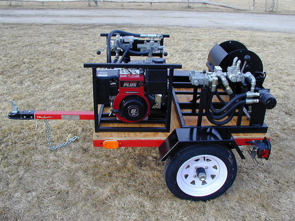 Trailer for Hydraulic Wire Fencing Roller